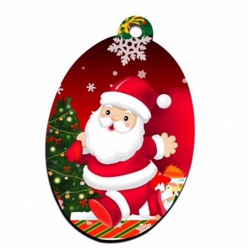 Ornament de brad sublimabil - Ovală