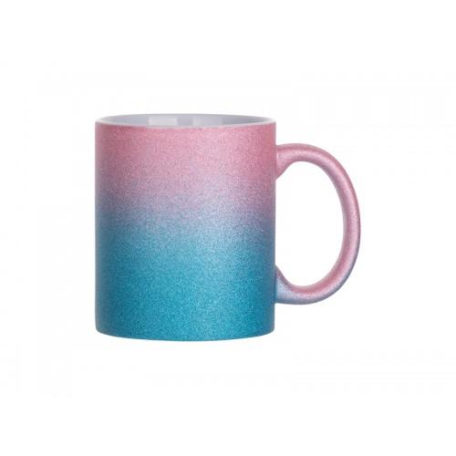 Cană sublimabilă glitter (Pink+Light Blue)