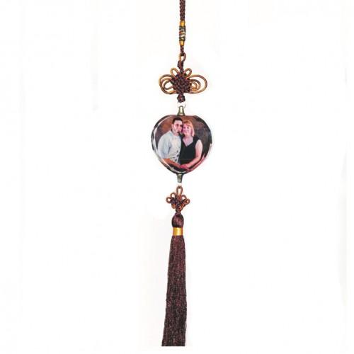 Breloc cristal inimioară (ornament pt mașină)